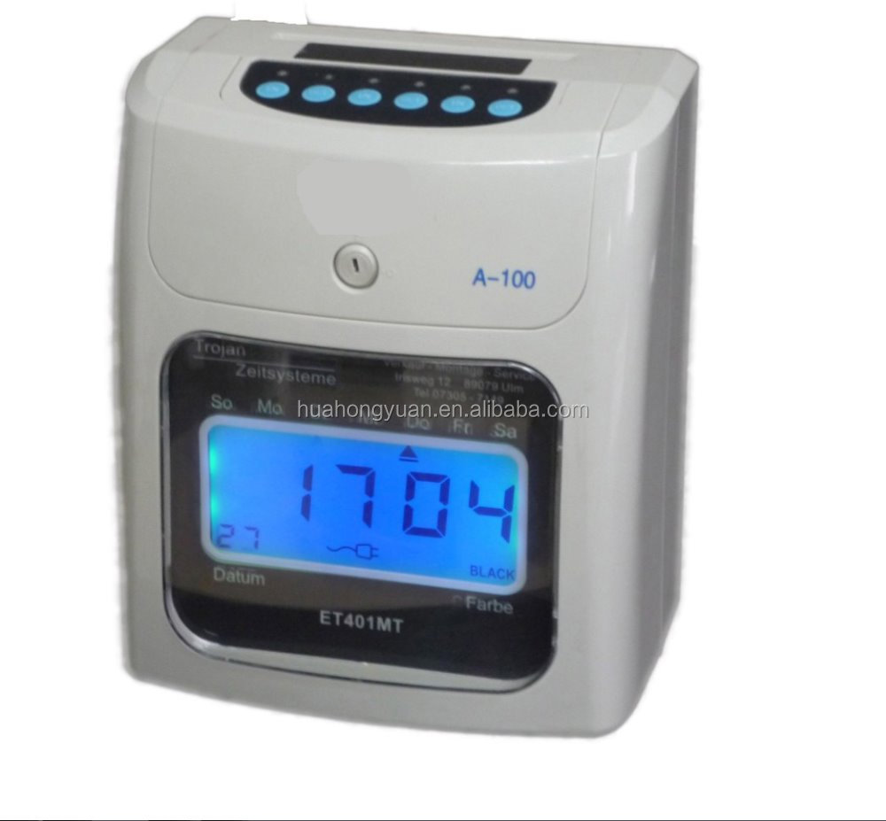 Time recording clock Electronic Time clock Clock Display Punch Card Electronic Time Recorder Attendence Management