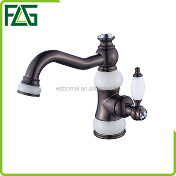FLG professional design good quality antique brass basin faucet