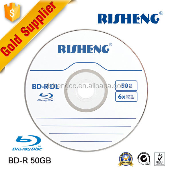 RISHENG blank 6x wholesale blank dvd blue ray/blank bdr-25gb printable/blu-ray cd disc 6x