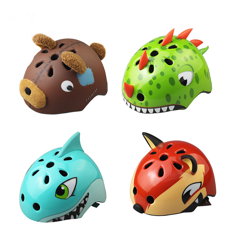 Factory direct sale animal style children bicycle helmet for kids