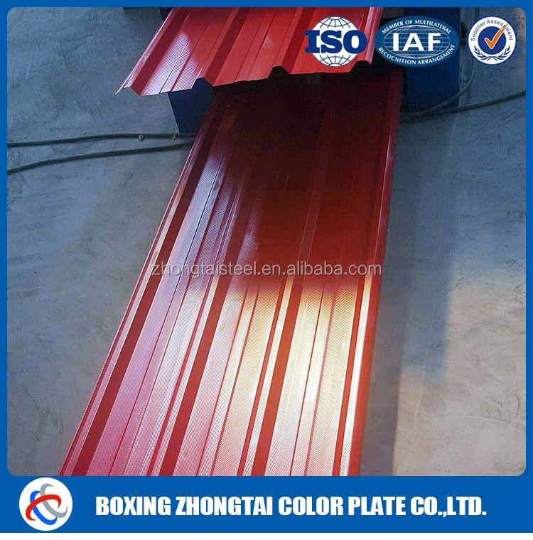 color corrugated roof price with good supplier