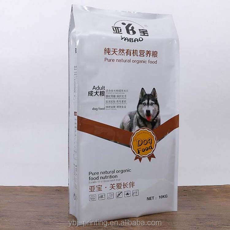 Quad seal food pet pouch/Plastic dog food bag/Animal feed bag cusotmized in Guangzhou factory