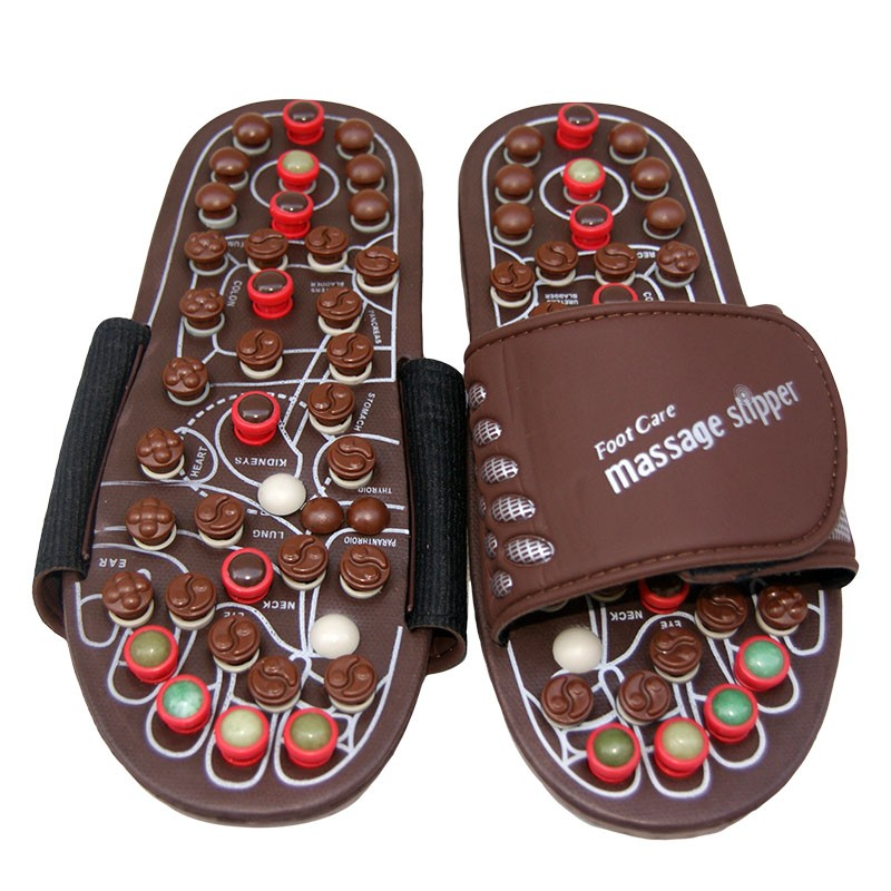 Hotselling high quality acupoint foot massager jade stone slippers shoes magnetic therapy massage slipper