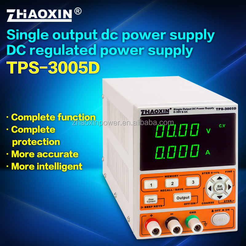 TPS-3005D Zhaoxin 30V 5A Switch variable dc power supply with CE approval
