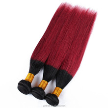 10-26inch Grade 8a indian straight virgin hair red color Cheap indian remy human hair weaving