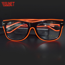 Christmas Item Party Gift LED Glowing Light el Wire Glasses