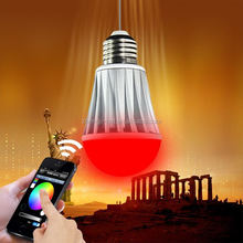 led spotlight IOS &Android smart bulb wifi control vtac red type six led bulb