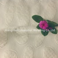 100polyester dobby white knitting textile fabric manufacturer in china