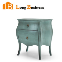 LB-AL5042 Antique style solid wood grey nightstands with cheap price