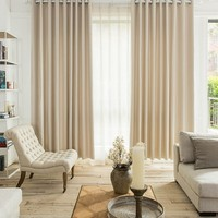 elegant polyester blackout curtains wholesale living room bedroom office curtains fashion pleated curtain