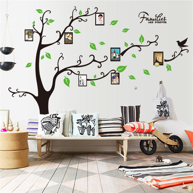 Large Family Tree Wall Decal. Peel U0026 Stick Vinyl Sheet,Easy To Install U0026  Apply Decor Mural For Home Decoration Stickers   Buy Custom Designs Wall  Sticker ...
