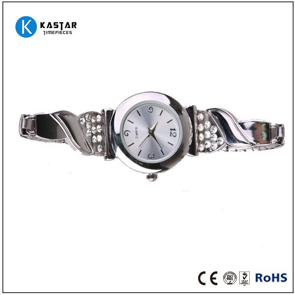 Men's dress two tone expansion bracelet watch