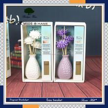 Factory best selling items home fragrance oil reed diffuser perfumes with rattan flower