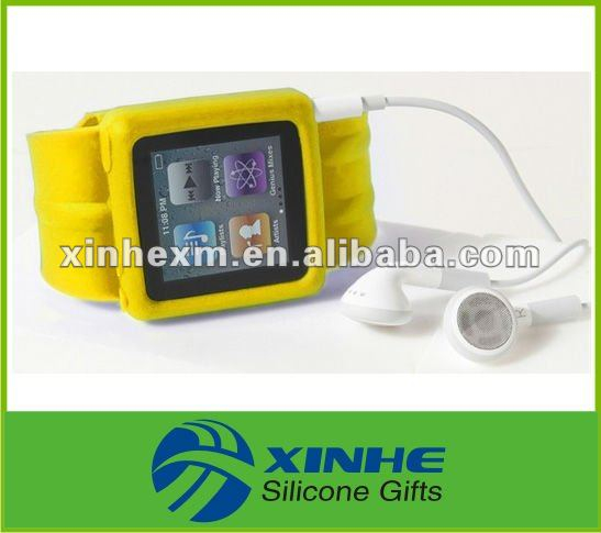 2012 New silicone wrist watch band for ipod nano 6
