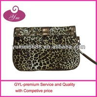 2014 animal leopard print nail polish cosmetic bag
