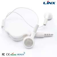 Cheap fashionable design good quality colorful retractable earbud LX-R07