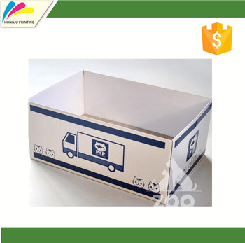 custom printing white corrugated box