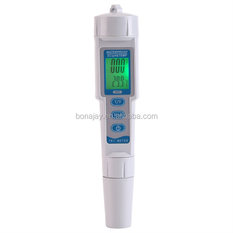 PH/EC/TEMP Meter Professional 3 in 1 Portable High Accuracy Handheld Pen Testing Water Quality Tester Meter