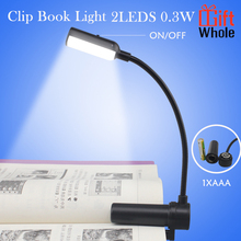 Mini reading bookmark clip on led book light