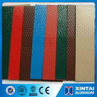PE PVDF coated colored stucco embossed aluminum roofing sheet