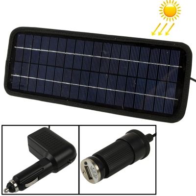 in stock 12V 4.5W Poly Silicon Solar Panel Car Battery Charger for Cars / Trucks / Boat / Motorcycle , Support USB 2.0 Plug