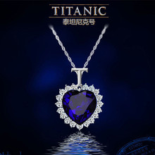 Neoglory Crystals Titanic Heart Ocean Love Pendants necklace for Women