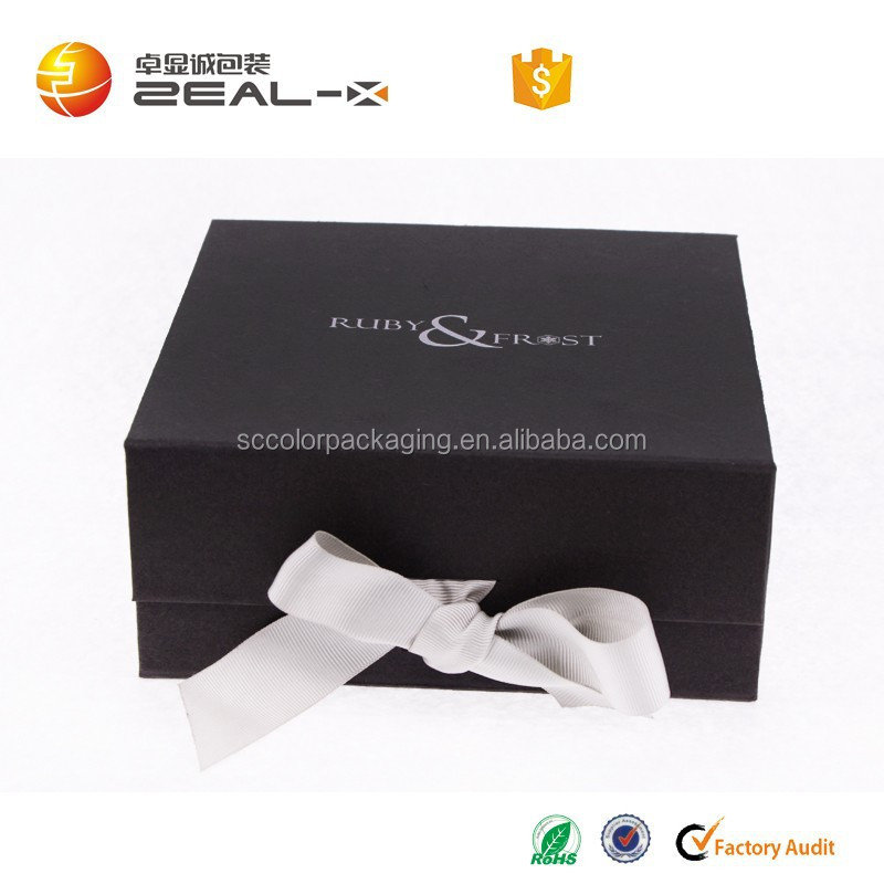 Give away $500 cash coupon black color better service shipping convenient free risk magnet closure ribbon closure folding box