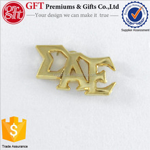 2017 Arts & Crafts New products Custom alphabet letter lapel pin