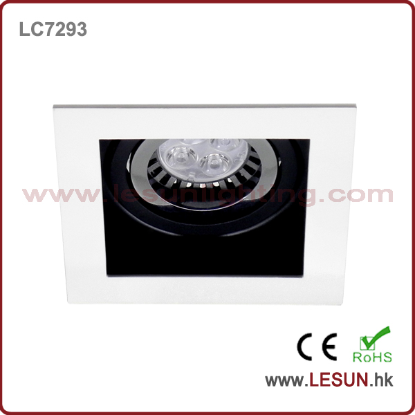 China supplier high quality energy saving led MR16 square recessed led hidden ceiling light