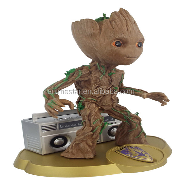 Guardians of the Galaxy Groot With Speaker Anime PVC Figure Good Quality Fashion Plastic Toy