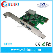2port USB 3.0 PCI Express pci to usb converter