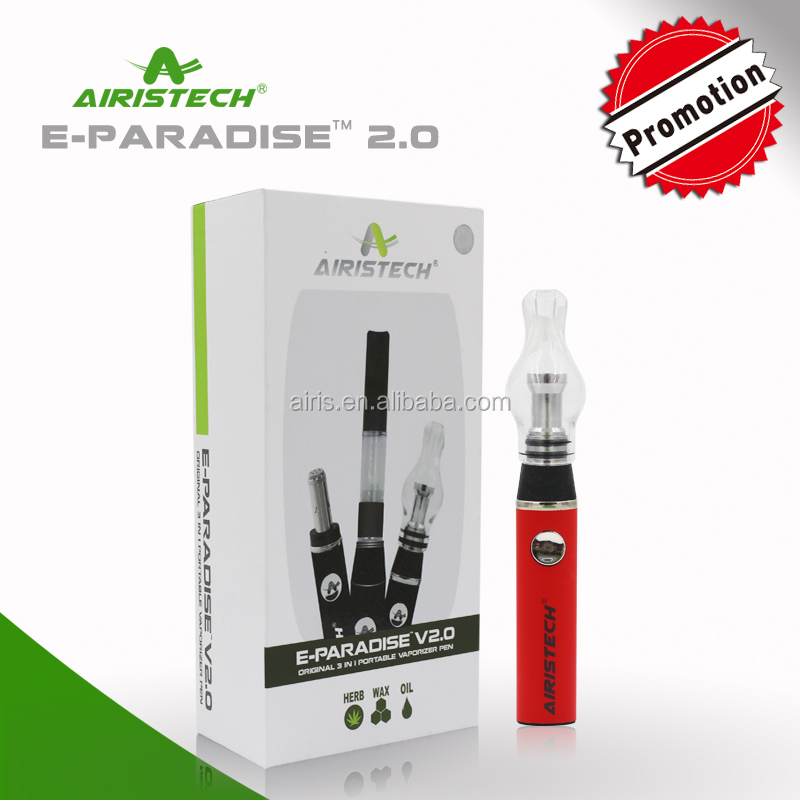 Newest e cigarette of 2016 latest craze Airis E-paradise 2.0 3 in 1 micro wax vaporizer pens for wax