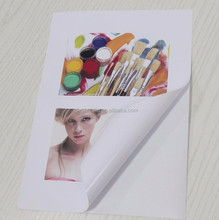 a4 sticker glossy/matte photo paper inkjet self adhesive photo paper 90g,135g,150g 120g