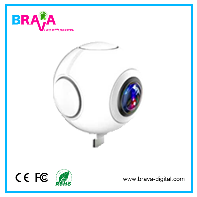 Alibaba hot products 360 Fisheye with 2 cameras vimicro usb 2.0 pc camera