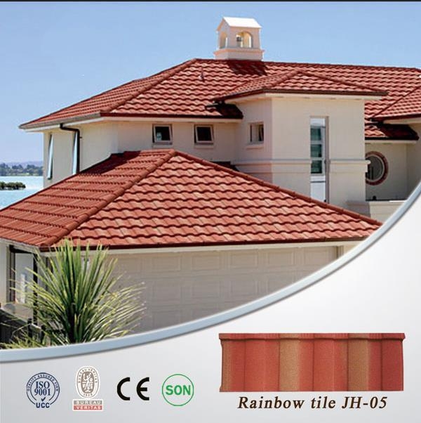 porcelain roof tile textured metal roofing