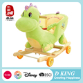 kids plush dinosaur horse rocking toy chair with wheels