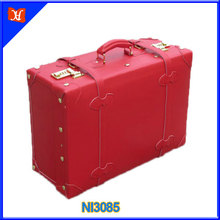 "vintage suitcase,elegant lady & Bridal dowry red attache case, 19"" attache case"
