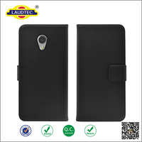 New PU Leather Flip Case Black Cover for ZTE Blade V7