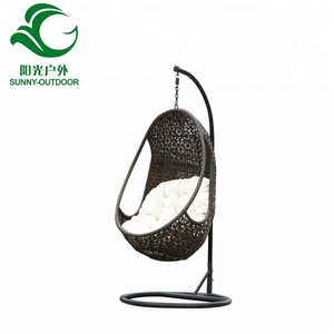 Best price well sale cheap new design rattan swing hanging egg chair