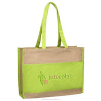 INDIAN JUTE SHOPPING TOTE BAG
