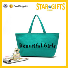 2016 Popular Fashion Women Canvas Handbag With Custom Logo