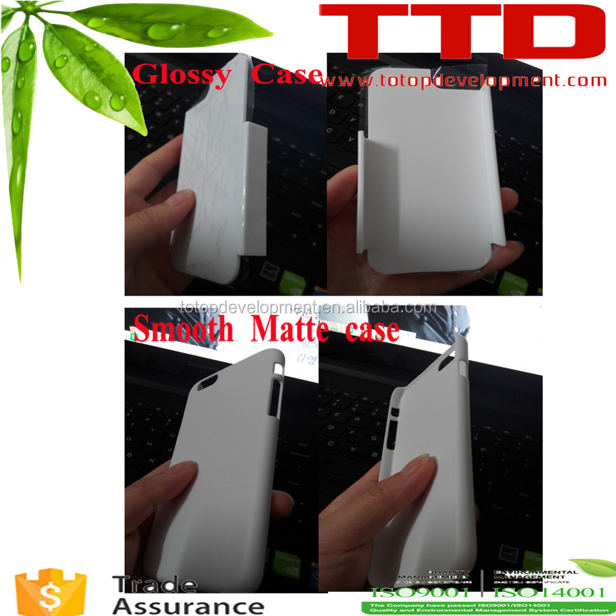 2016 smooth matte 3D Sublimation Phone Cases Blanks For iphone SE, for sumsang S7 EDGE