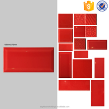 sizes 75x150 red kitchen wall tile, bathroom interior tile, bevel edge ceramic tile brick look
