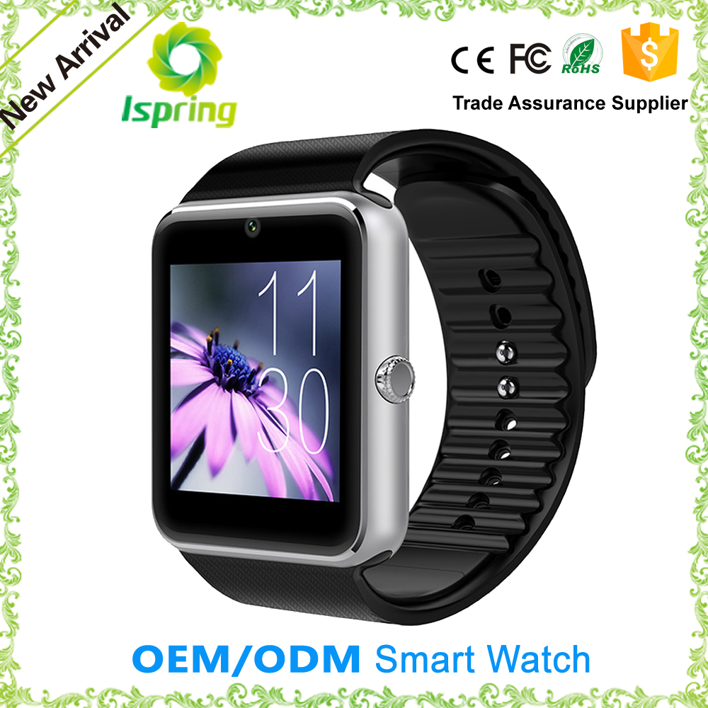 new model watch mobile phone gt08 u8,pedometer bracelet smart watch gv08,promotion watch passed ce fcc rohs