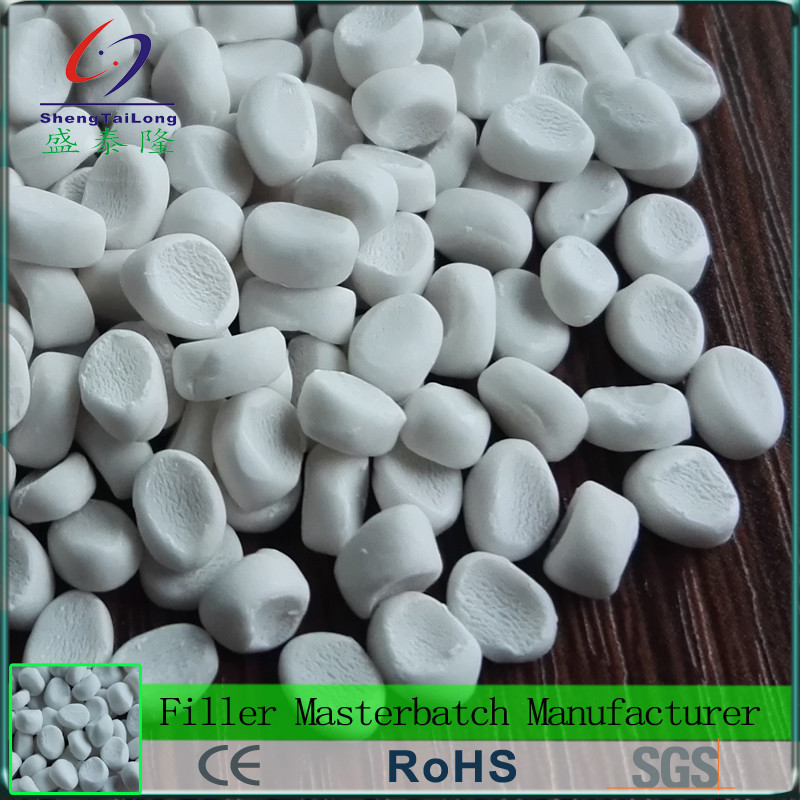 Cost save coated calcium carbonate filler masterbatch for PP cement bags