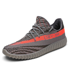 African Style Action Sports Running Shoes Men Flyknit Yeezy Sneakers Made in China