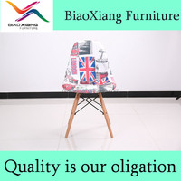 Good quality cheap price plastic chiars seat wit fabric covered for sale