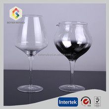 Long stem unlead bulk red big wine glass