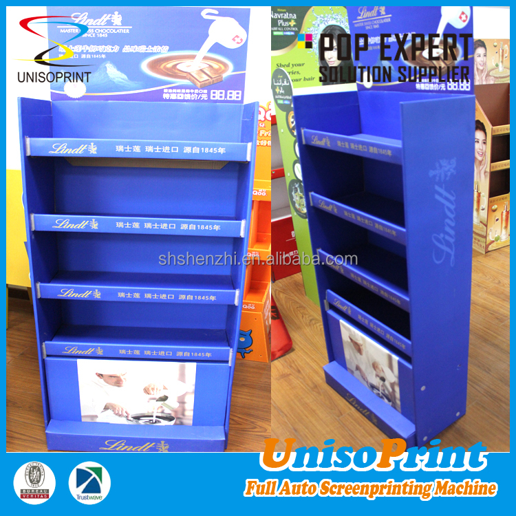China supplier made floor tiles pos product display stands for supermarket