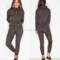 Cotton Polyester Tracksuit For Adults Plain Blank Active Charcoal Grey Track Suit Custom Design Jacket Sweatpants Sports